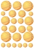 23 Basketballs Vinyl Wall Art Decal Peel and Stick Sticker