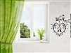 2 Birds on Heart Branch Vinyl Wall Art Decal Sticker