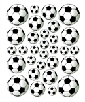 30 Soccer Balls Vinyl Wall Art Decal Peel and Stick Sticker