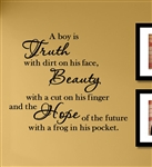 A Boy Is Truth With Dirt On His Face Vinyl Wall Art Decal Sticker