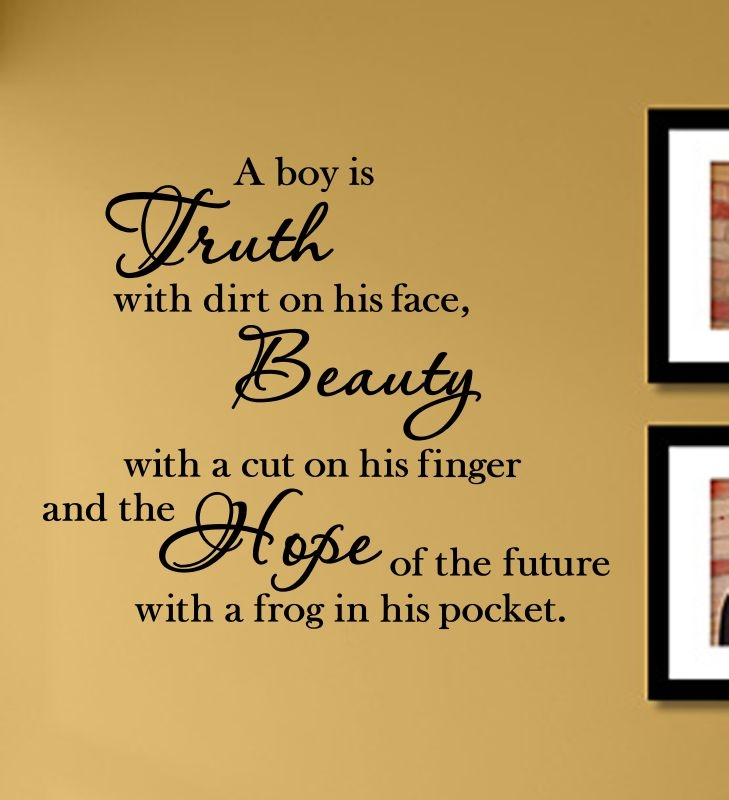 A Boy Is Truth With Dirt On His Face Vinyl Wall Art Decal