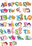 Alphabet Characters Letters Vinyl Wall Art Decal Peel and Stick Sticker