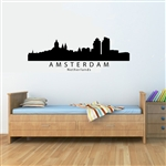 Amsterdam Netherlands City Skyline Vinyl Wall Art Decal Sticker