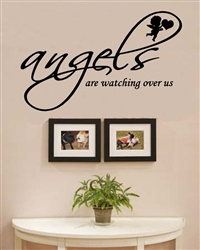 angels are watching over us. Vinyl Wall Art Decal Sticker