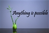 Anything is possible. Vinyl Wall Art Decal Sticker