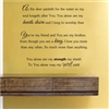 As the deer panteth for the water so my soul longeth after You; You alone are my hearts desire and I long to worship thee. Vinyl Wall Art Decal Sticker