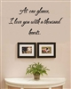 At one glance, I love you with a thousand hearts. Vinyl Wall Art Decal Sticker