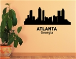 Atlanta Georgia City Skyline. Vinyl Wall Art Decal Sticker