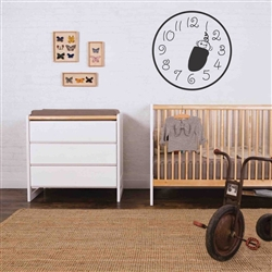 Baby clock Vinyl Wall Art Decal Sticker