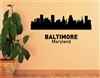 Baltimore Maryland city skyline. Vinyl Wall Art Decal Sticker