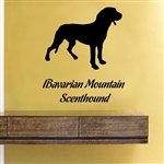 Bavarian Mountain Scenthound. Vinyl Wall Art Decal Sticker