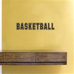 Basketball Text Vinyl Wall Art Decal Sticker