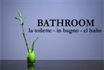 Bathroom La toilette - in bagno - el bano. Vinyl Wall Art Decal Sticker