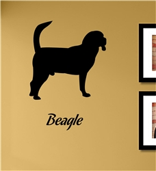 Beagle. Vinyl Wall Art Decal Sticker