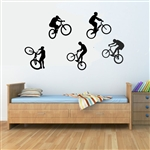 Bicycle Stunts. Vinyl Wall Art Decal Sticker