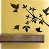 Birds and Tree Branch Vinyl Wall Art Decal Sticker