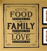 BLESS THE FOOD BEFORE US the FAMILY BESIDE US and the LOVE BETWEEN US. Vinyl Wall Art Decal Sticker