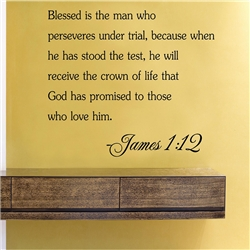 Blessed is the man who perseveres Vinyl Wall Art Decal Sticker