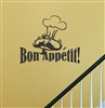 Bon Appetit Chef Vinyl Wall Art Decal Sticker