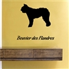 Bouvier des flandres silhouette Vinyl Wall Art Decal Sticker