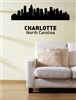 Charlotte North Caroline City Skyline Vinyl Wall Art Decal Sticker