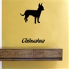 Chihuahua silhouette Vinyl Wall Art Decal Sticker