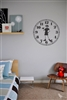 Clock with boy Vinyl Wall Art Decal Sticker
