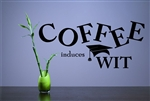 Coffee induces Wit Vinyl Wall Art Decal Sticker
