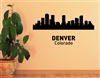 "Denver Colorado City Skyline "" Vinyl Wall Art Decal Sticker"