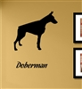 Doberman Silhouette Vinyl Wall Art Decal Sticker