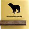 Drentsche Partridge Silhouette Dog Vinyl Wall Art Decal Sticker
