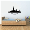 Dublin Ireland City Skyline Vinyl Wall Art Decal Sticker