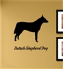 Dutsch Shepard Dog Silhouette Vinyl Wall Art Decal Sticker