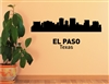 El Paso Texas City Skyline Vinyl Wall Art Decal Sticker