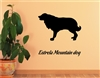 Estrela Mountain Dog Silhouette Vinyl Wall Art Decal Sticker