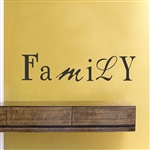 Family Vinyl Wall Art Decal Sticker