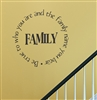 Family Be true to who you are and the family name you bear Vinyl Wall Art Decal Sticker
