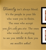 Family isn't always blood. It's the people in your life who want you in theirs. The ones who accept you for who you are. The ones who would do anything to see you smile & love you no matter what. Vinyl Wall Art Decal Sticker