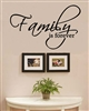 Family is forever Vinyl Wall Art Decal Sticker