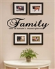 Family one of nature's masterpieces Vinyl Wall Art Decal Sticker