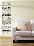 FAMILY RULES Help Each Other Always Tell the Truth SHARE DO YOUR BEST...Vinyl Wall Art Decal Sticker
