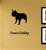 French Bulldog Silhouette Vinyl Wall Art Decal Sticker