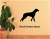 French Tricolor Hound Silhouette Vinyl Wall Art Decal Sticker