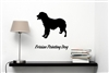 Frisian Pointing Dog Silhouette Vinyl Wall Art Decal Sticker