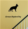 German Shepard Silhouette Vinyl Wall Art Decal Sticker