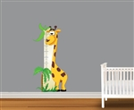 Cute Giraffe Growth Chart Vinyl Wall Art Decal Peel and Stick Sticker