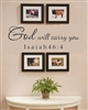 God will carry you Isaiah 46:4 Vinyl Wall Art Decal Sticker
