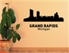 Grand Rapids Michigan City Skyline Vinyl Wall Art Decal Sticker