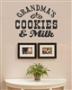 GRANDMA'S COOKIES & Milk Vinyl Wall Art Decal Sticker