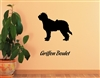 Griffon Boulet Silhouette Vinyl Wall Art Decal Sticker